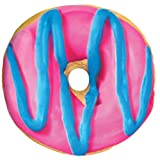 iscream Sugarlicious! Frosting Scented Blue Pink Donut 16'' Photoreal Microbead Pillow