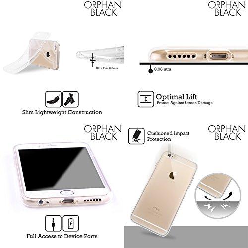Officiel Orphan Black Greyscale ADN Logo Et Hélice Étui Coque en Gel molle pour Apple iPhone 6 Plus / 6s Plus