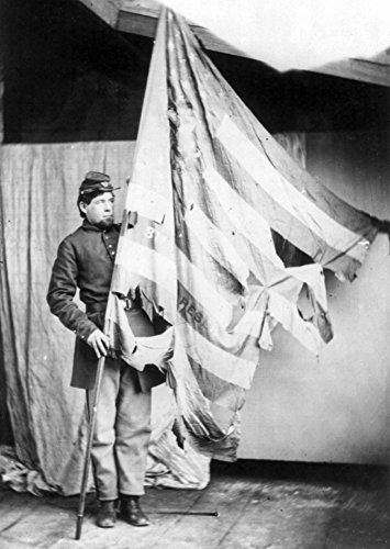 Flag of the 37th Pennsylvania Infantry Civil War Photograph (24x36 SIGNED Print Master Giclee Print w/ Certificate of Authenticity - Wall Decor Travel - Paper Military Certificate