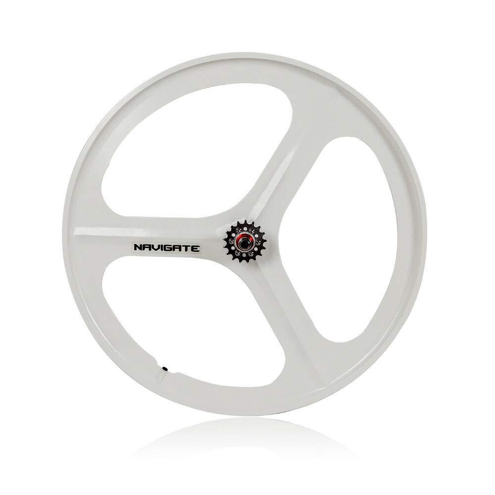 3 Spoke 700c Fixie Single Speed Road Bike Wheel Front or rear white