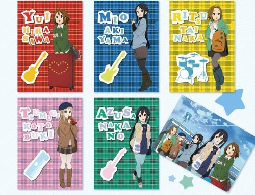 K-On! x Lawson Fair 3rd clear file all set of 6 Yui Azusa Ritsu Mio Tsumugi K-ON (japan import)