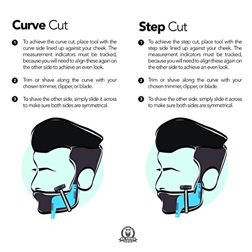Mr-Rugged-Beard-Shaping-Tool-Clear-Template-Guide-for-Edging-Beards-and-Goatees-Also-Ideal-Haircut-Template-for-Sideburns-and-Hairline-Built-in-Comb