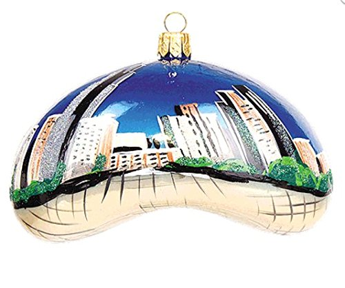(Chicago Bean Landmark Illinois Polish Glass Christmas Ornament Travel Souvenir Decoration)