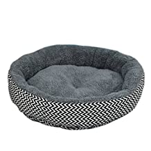 Haolong Soft Pet Sleeper Round Pet Bed for Cats and Small Dogs (grey)