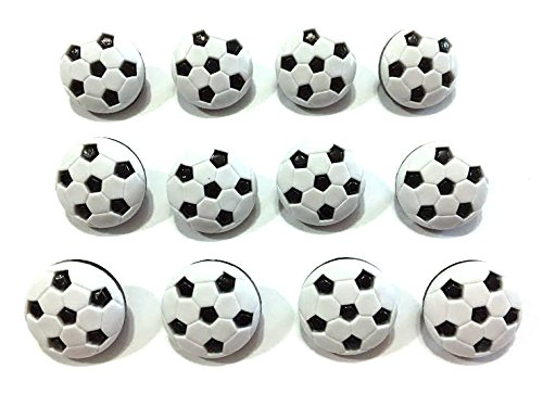 (Soccer Buttons Set of 12 Shank Back 3/4