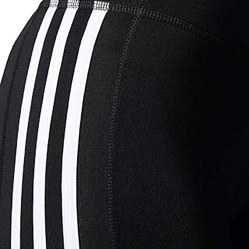 adidas Womens 3 Stripe Active Tights Leggings (Black, Medium)