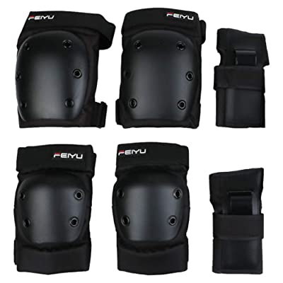 BESPORTBLE 6Pcs Adults Knee Pads Elbow Pads Wrist Guards Protective Gear Set for Rollerblading Skateboard Cycling Skating Bike Scooter Riding Sports XS : Sports & Outdoors