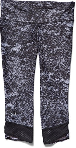 Under Armour Women's UA Fly-By Printed Capri Black/White/Reflective XS (US 0-2) X 18