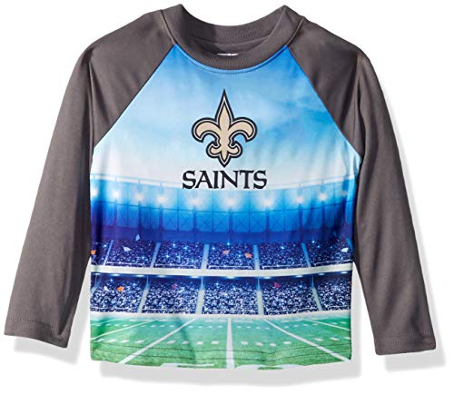 NFL New Orlean Saints Unisex-Baby Long-Sleeve Tee, Gray, 18 Months