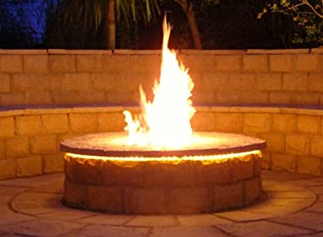Brightstar, Gas Fire Pit Burner, Round, 18kw, Mains Gas