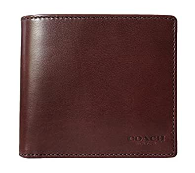 Coach Water Buffalo Billfold Bifold Men's Wallet Mahogany F74396