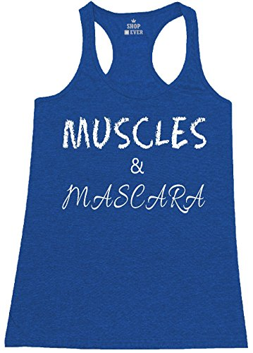 Royal Blue Heather (Shop4Ever Muscles & Mascara Women's Racerback Tank Top Gym Workout Tank Tops Small Heather Royal Blue 0)