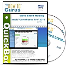 Intuit QuickBooks Pro 2015 Tutorial Training Course on 2 DVDs 11 Hours in 209 Video Lessons Computer Software Video Tutorials