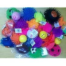 Stress Balls and Squeeze Toys Value Assortment (12 Pack) Stress Relax Toy Balls, Puffer Ball Assortment