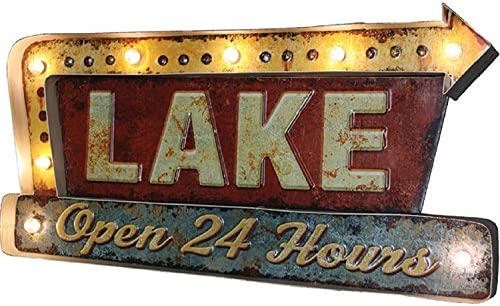 Amazon.com: Rivers Edge Products Lake LED bar Sign: Sports ...