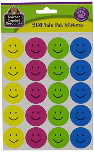 Teacher Created Resources Happy Face Stickers Valu-Pak (6632) ()
