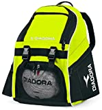 Diadora Squadra Backpack Soccer Bag, Yellow, OS