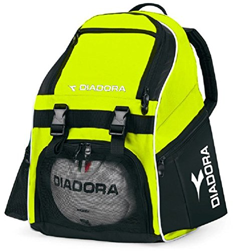 Soccer Bag (Diadora Unisex Squadra Backpack Soccer Bag, Yellow, OS)