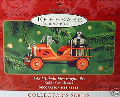 Fire Engine Ornament (Hallmark Keepsake Ornament - Kiddie Car Classics - 1924 Toledo Fire Engine #6 (2000))