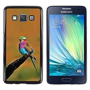 FlareStar Colour Printing Orange Vibrant Colorful Bird Summer cáscara Funda Case Caso de plástico para Samsung Galaxy A3 / SM-A300