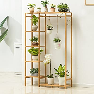 Balcony Wooden Living Room Flowerpot Rack Hundred Step Style Flower Racks
