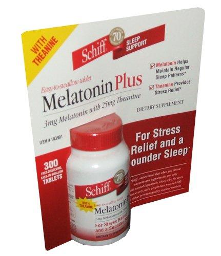 Amazon.com: Schiff Melatonin Pplus 3 mg Melatonin With 25 mg ...