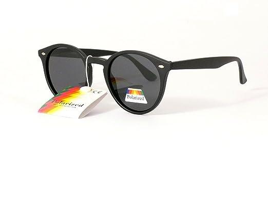 lunettes de soleil polarisantes polarisées cityvision homme femme verres  ronds rondes 201323 (monture noire mat 7a0a103b254b