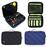 Travel Gopro Bag Action Camera Case for Carrying Gopro Hero 6, 5, 4 and AKASO EK5000 V5 4K WiFi Action Camera Accessories Bag Organize(Blue)