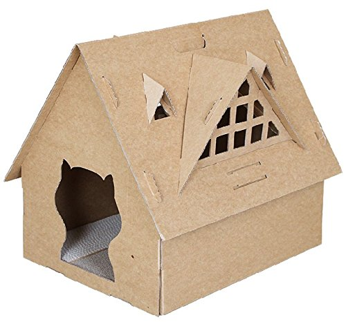 Rayado Tabla Ondulado Rascador para gatos cartón kratz cartón Muebles Tabla 50071 Casa 1: Cat pia: Amazon.es: Productos para mascotas