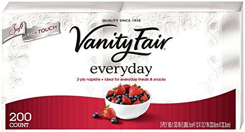 Vanity Fair Everyday Napkins, White - 200 ct by Vanity Fair