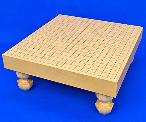 一枚板の見やすい手軽な足付碁盤■囲碁盤 新かや2寸一枚板足付碁盤 ※将碁屋椿油付き