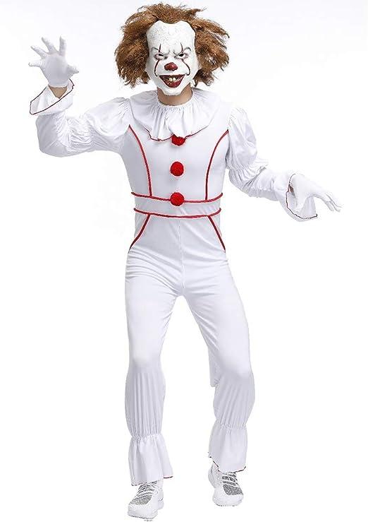Auplew Disfraz de Payaso de Halloween, Traje Hombres Cosplay Traje ...