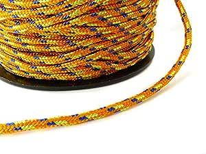 Paracord trenzado cuerda de plantilla 2 mm naranja/azul - 5 Meter