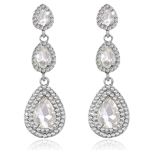 iWenSheng Layered Earrings Wedding Jewelry