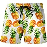TOOPOOT Summer Men Sweatpants,Pineapple Printed Trousers Jogging Outdoor Fitness Running Casual Beach Shorts Pants