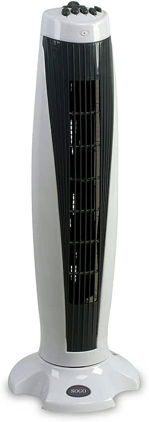 Sogo VEN-SS-21350 Ventilador de torre turbo, 74 cm, 50 W, Negro y ...