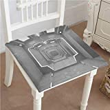 Mikihome Dining Chair Pad Cushion Decor Supernatural Science Based Light Travel to Planet Solar System Explore Image Gray Fashions Indoor/Outdoor Bistro Chair Cushion 18''x18''x2pcs