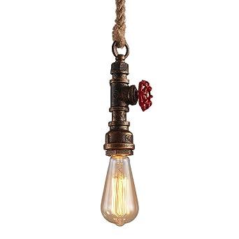 Lustres Vintage Style Rétro Bar Luminaire Lampe Plomberie Suspension De Modeen Corde Ac En Pour Tuyau E27 Rustique Chanvre 240v Restaurant Fer iPZuOXTk