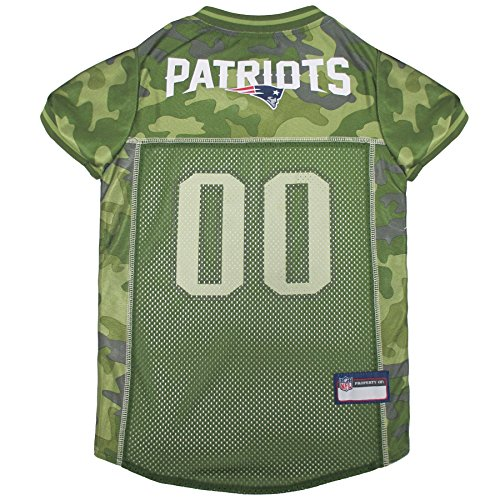 Pets First NFL NEW ENGLAND PATRIOTS CAMOUFLAGE DOG JERSEY, X-Large. - CAMO PET Jersey available in 5 sizes & 32 NFL TEAMS. Hunting Dog - Dog Shirts Nfl