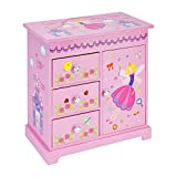 JewelKeeper Music Box with 3 Pullout Drawers, Fairy