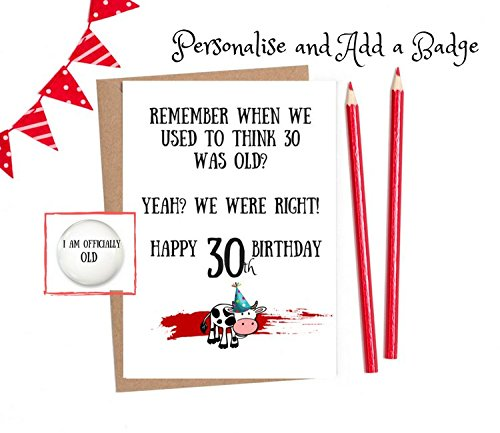 Image Unavailable Not Available For Colour Funny 30th Birthday Cards Men