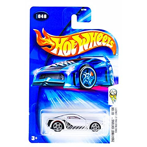 Hot Wheels 2004 First Editions '05 2005 Ford Mustang GT Concept Silver #48 (Gt 5 Wheel)