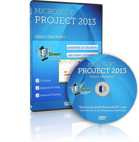 Learn Microsoft Project 2013 Training Videos - 19 Hours of Project 2013 training for beginner, intermediate and...