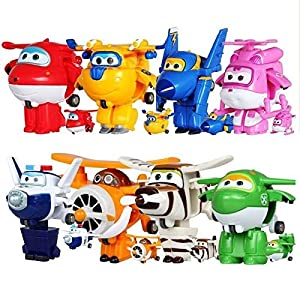 8pcs/set Super Wings Mini Planes Toys Deformation Airplane Robot Action Figures Boys&Girls Birthday Gift Brinquedos - 515p3cQnlyL - 8pcs/set Super Wings Mini Planes Toys Deformation Airplane Robot Action Figures Boys&Girls Birthday Gift Brinquedos