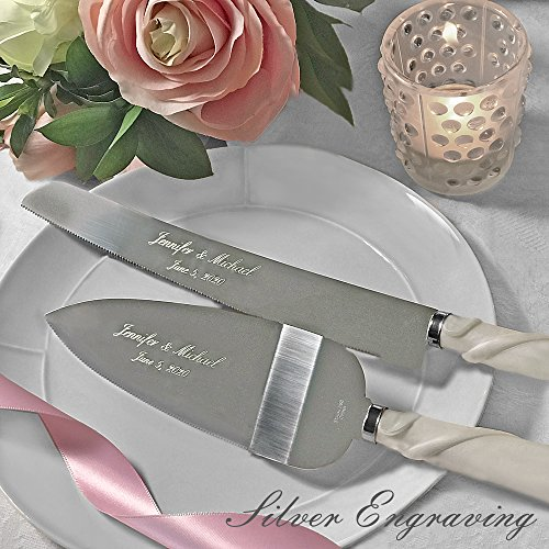 The 8 best wedding cake knives white