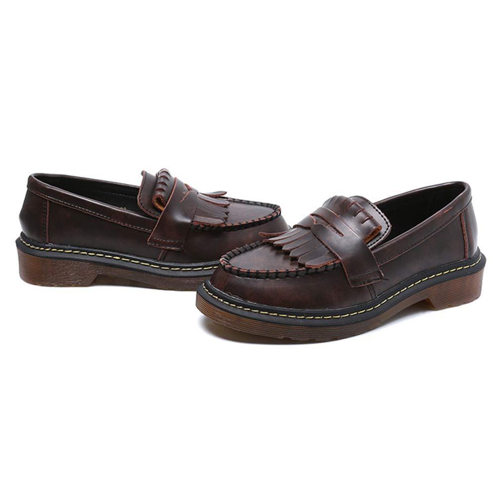 Calzado CláSico De Mujer con Borlas Mocasines Y Tacones Bajos Microfibra Pisos De Cuero Suave Calzado Oxford: Amazon.es: Zapatos y complementos