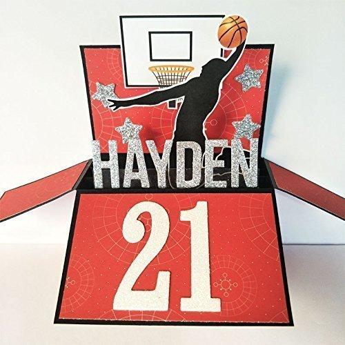Amazon Name Age Personalised Birthday Card Basketball
