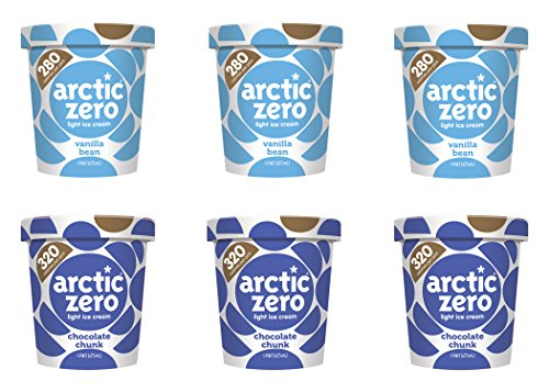 Arctic Zero Vanilla Bean and Chocolate Chunk Bakery and Dessert Gifts, 16 Fluid Ounce (pack Of 6) (Best Arctic Zero Ice Cream Flavors)