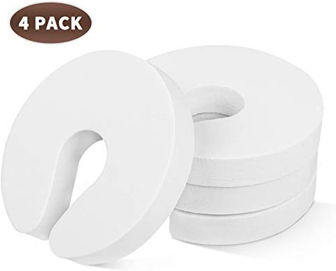 2 Pack Prevents Finger Pinch Injuries Slamming Doors and Child or Pet from Getting Locked in Room Finger Pinch Guard Baby Proofing Doors Made Easy with Soft Yet Durable Foam Door Stopper