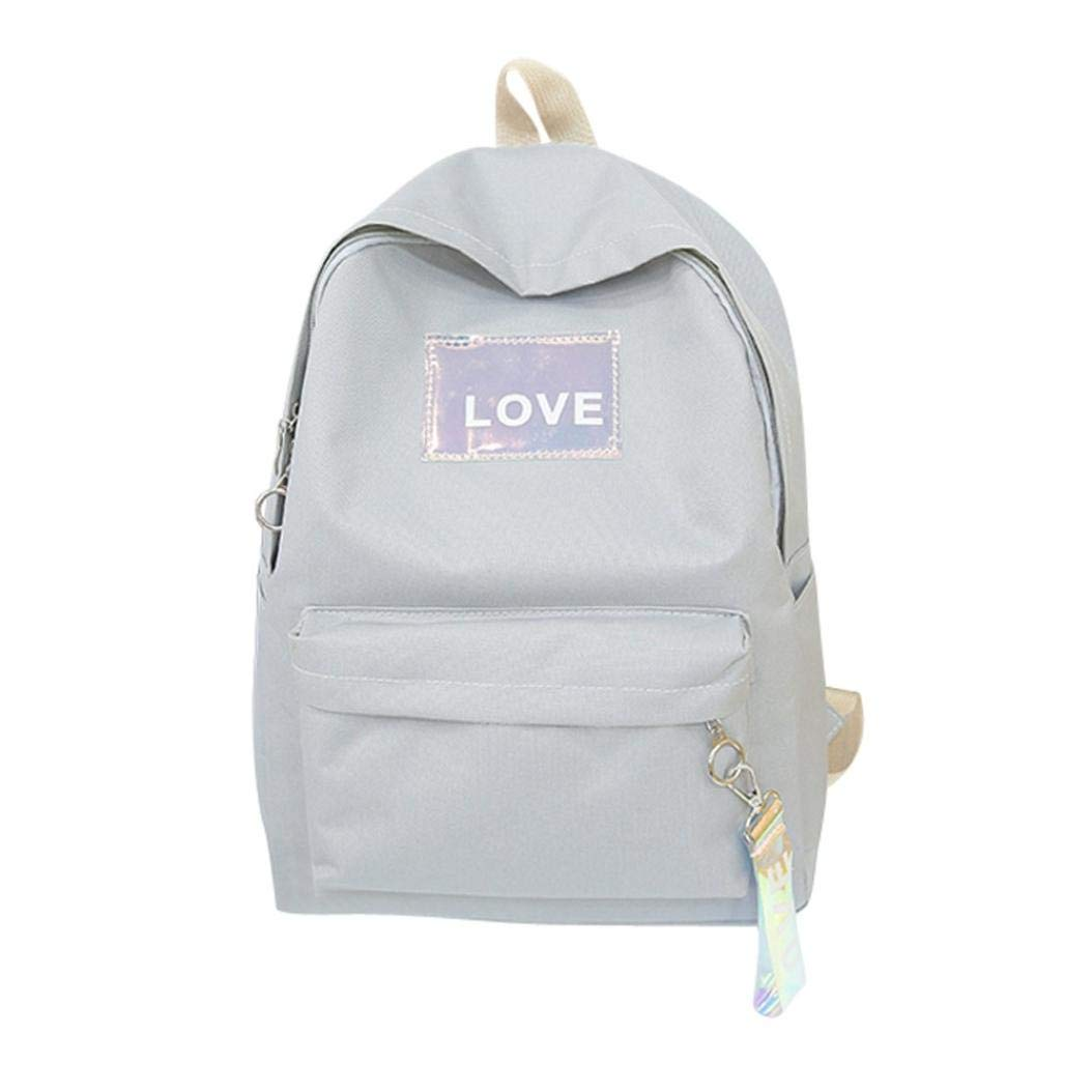 New listed TOTOD Unisex Canvas Letter Backpack Outdoor Travel Backpack Student Bag